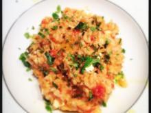 Tomaten Risotto mit Feta & Oregano - Rezept