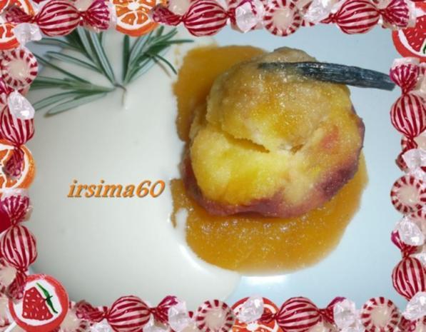 Pfirsiche aus dem Ofen in Bratfolie gegart mit Rosmarin - Mascapone - Rezept - Bild Nr. 2