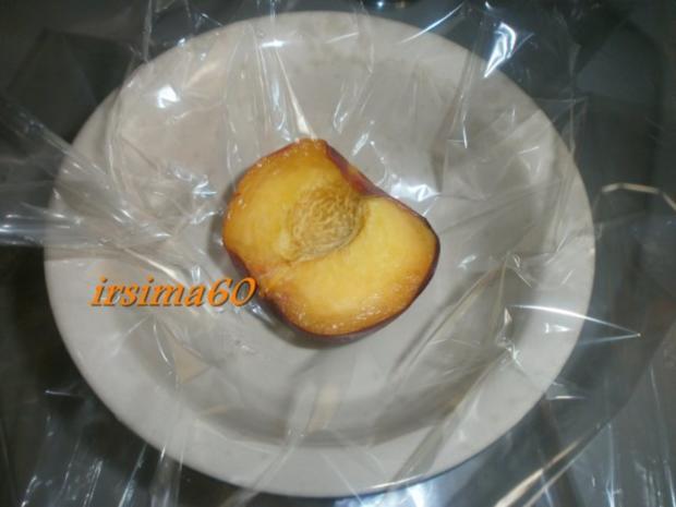 Pfirsiche aus dem Ofen in Bratfolie gegart mit Rosmarin - Mascapone - Rezept - Bild Nr. 8
