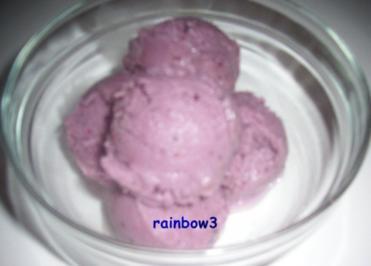 Dessert: Heidelbeer-Joghurt-Eis - Rezept