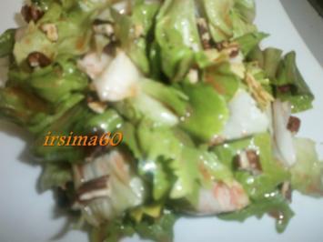 Salatherzen mit Preiselbeer - Dressing - Rezept