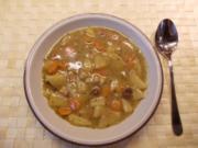 Kartoffel-Karottengemüse mit Dörrfleisch - Rezept