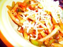Maccheroni mit vegetarischer Bolognese - Rezept