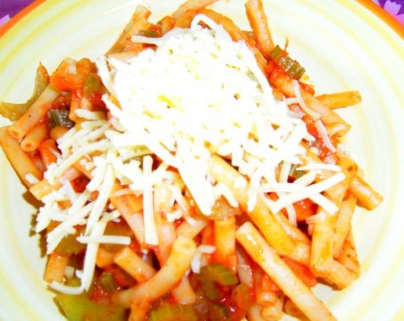 Maccheroni mit vegetarischer Bolognese - Rezept - Bild Nr. 5