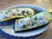 Zucchini - Ziegenkäse - Schiffchen - Rezept