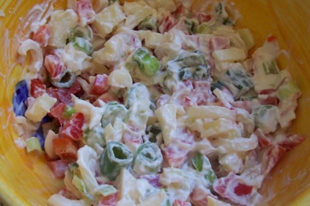Gratinierte Kartoffeln mit Ziegenfrischkäse und Apfel-Paprika-Füllung - Rezept - Bild Nr. 2