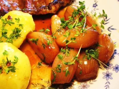 Schalotten in Honig-Butter - Rezept