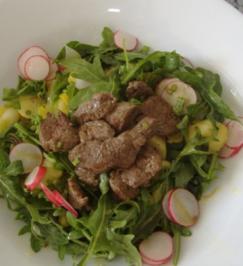 Frühlingssalat mit Rinderfiletspitzen - Rezept
