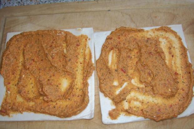 Snack: Herzhafte Blätterteigschnecken mit Feta-Schinken-Füllung - Rezept - Bild Nr. 4