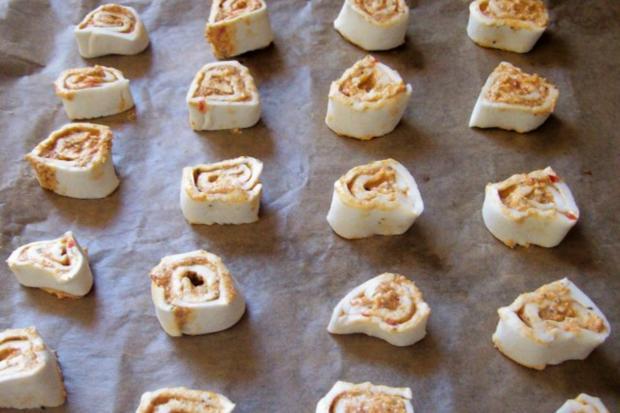 Snack: Herzhafte Blätterteigschnecken mit Feta-Schinken-Füllung - Rezept - Bild Nr. 6