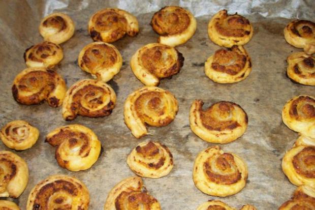 Snack: Herzhafte Blätterteigschnecken mit Feta-Schinken-Füllung - Rezept - Bild Nr. 8