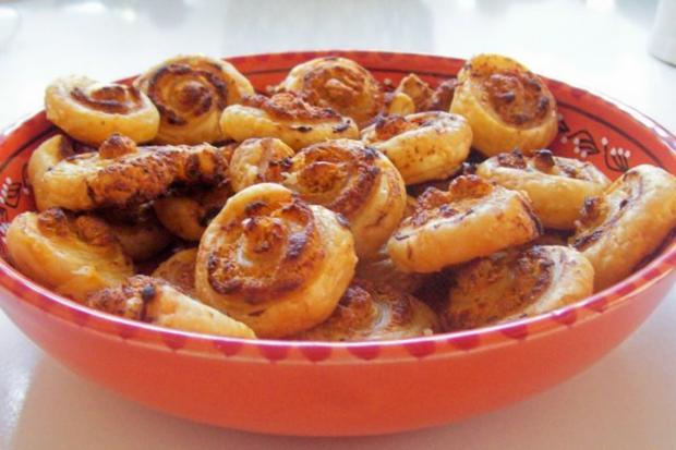 Snack: Herzhafte Blätterteigschnecken mit Feta-Schinken-Füllung - Rezept - Bild Nr. 9