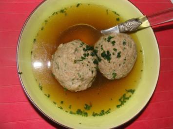 Suppen : Leberknödelsuppe - Rezept