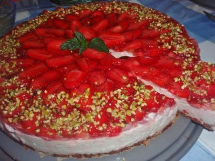 Erbeer-Joghurt Torte - Rezept