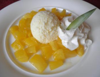 Ananas - Eis ... - Rezept