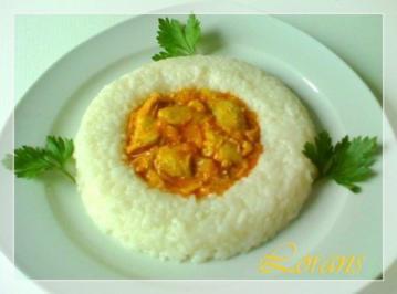 ❀Hähnchen in Currysauce mit zartcremigem Risotto Reis ❀ - Rezept