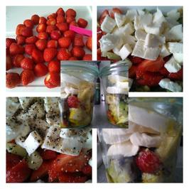 Biggi`s Salate = Tiefkühltruhensalat Erdbeer Mozzarella - Rezept - Bild Nr. 12
