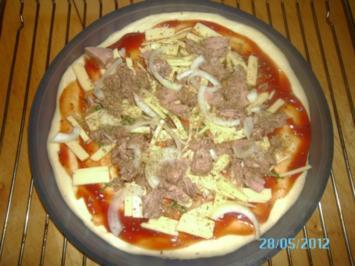 Rezept: Thunfischpizza