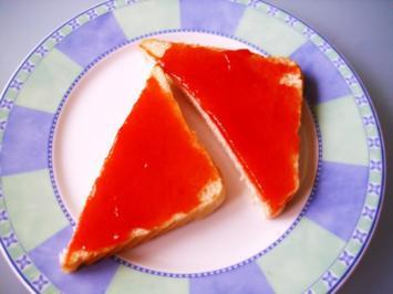 Erdbeer-Mango Marmelade mit Kokos - Rezept
