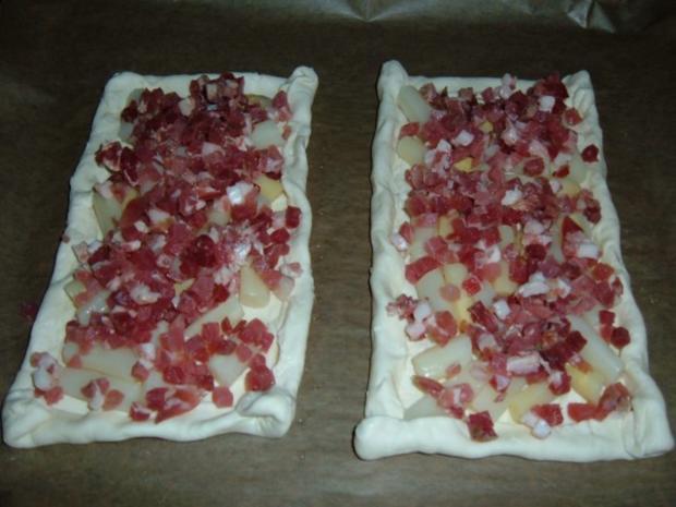 Blätterteig : mit Spargel , Schinken und Feta - Rezept - Bild Nr. 3