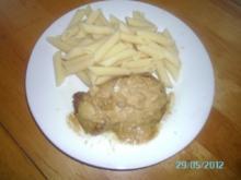 Knoblauchrahmschnitzel mit Nudeln - Rezept