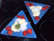 Erdbeeren mit Schnee-Eiern - Rezept