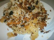 Persischer Safranreis mit Köstlichkeiten aus dem Orient - Rezept