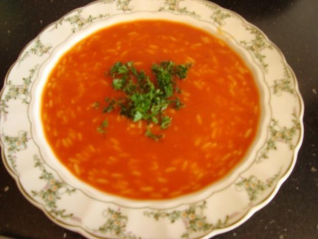 Tomatensuppe Brigitte tomatensuppe mit reiseinlage rezept mit bild kochbar de