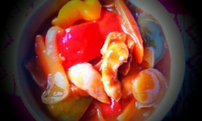 Chinesisch Huhn Süß-Sauer - Rezept