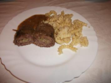 Rinder Rouladen in Pilz Soße - Rezept
