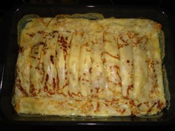 Palatschinken mit feiner Quark-Pfirsich-Füllung - Rezept