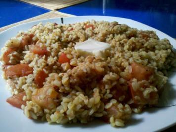 Vegetarisch: Bulgurtopf mit Tomaten - Rezept
