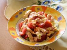 Melonen-Erdbeer-Geflügel-Salat - Rezept
