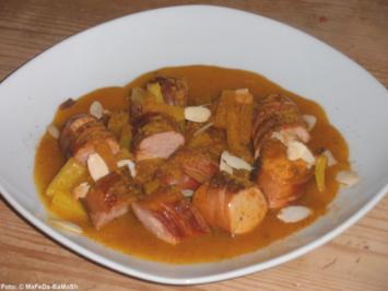 Currywurst mit Ananassoße - Rezept