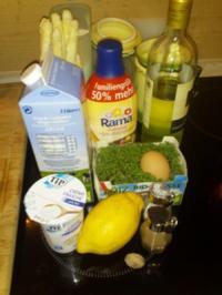 Spargelsuppe mit Kresse - Rezept