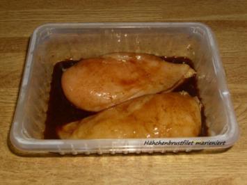 gebratene Hähnchenbrustfilets mit Reis - Rezept