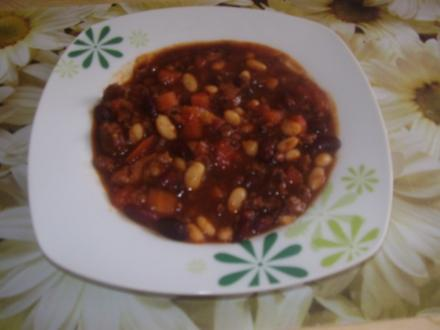Kaffee-Chili mit Bohnen - Rezept