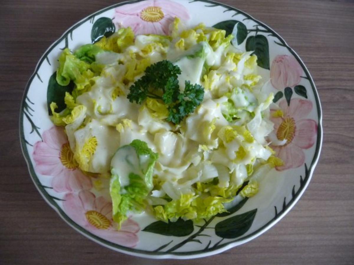 salat romana salat mit senf joghurt dressing rezept. Black Bedroom Furniture Sets. Home Design Ideas