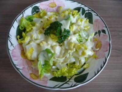 Salat : Romana-Salat mit Senf-Joghurt-Dressing - Rezept