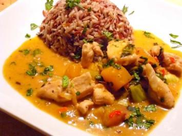 Fruity hot Chicken Curry - Rezept