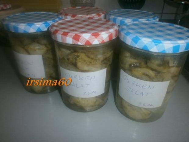 Gurkensalat eingekocht - Rezept