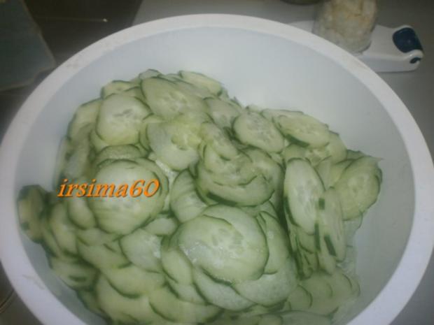 Gurkensalat eingekocht - Rezept - Bild Nr. 4