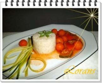 ❀ Buntes Gemüse und Risotto Reistürmchen dazu ❀ - Rezept