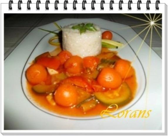 ❀ Buntes Gemüse und Risotto Reistürmchen dazu ❀ - Rezept - Bild Nr. 10
