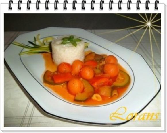 ❀ Buntes Gemüse und Risotto Reistürmchen dazu ❀ - Rezept - Bild Nr. 2