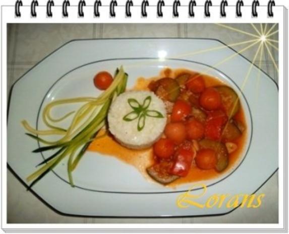 ❀ Buntes Gemüse und Risotto Reistürmchen dazu ❀ - Rezept - Bild Nr. 12