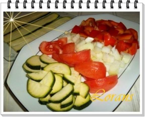 ❀ Buntes Gemüse und Risotto Reistürmchen dazu ❀ - Rezept - Bild Nr. 5