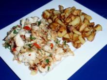 Pikant scharfes Zanderfilet mit Bratkartoffeln - Rezept