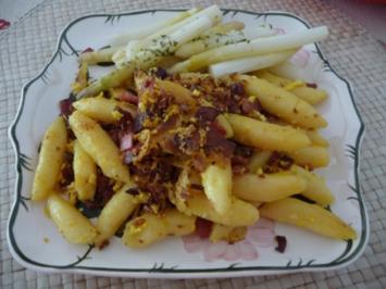 Fixe Küche : Schupfnudel - Pfanne mit Spargelspitzen - Rezept