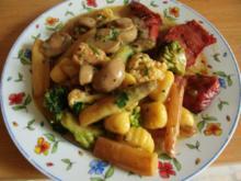 Gemüse in Käsesosse mit Kasselerlachsen und Gnocchi - Rezept
